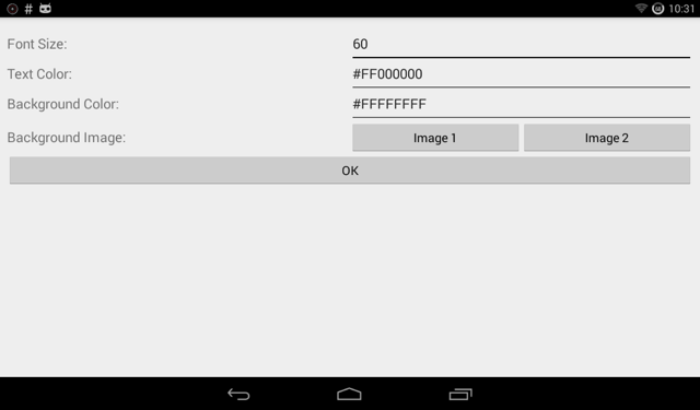 Video Kiosk Android Date and Time Widget | BurningThumb Studios